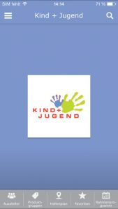 Srceenshot Kind + Jugend 2016 App