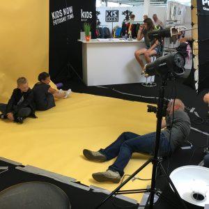 """Foto-Shooting """"Kids Selected"""" im Sommer 2016 auf der Kids Now mit Fotograf Tom Luther"""