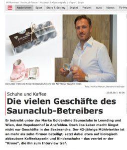Saunabetreiber gründet Kinderschuhlabel - .Kronen-Zeitung