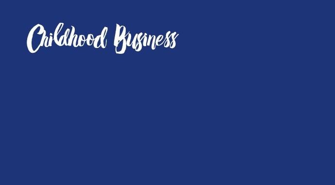 Blue Screen mit Logo von Childhood Business