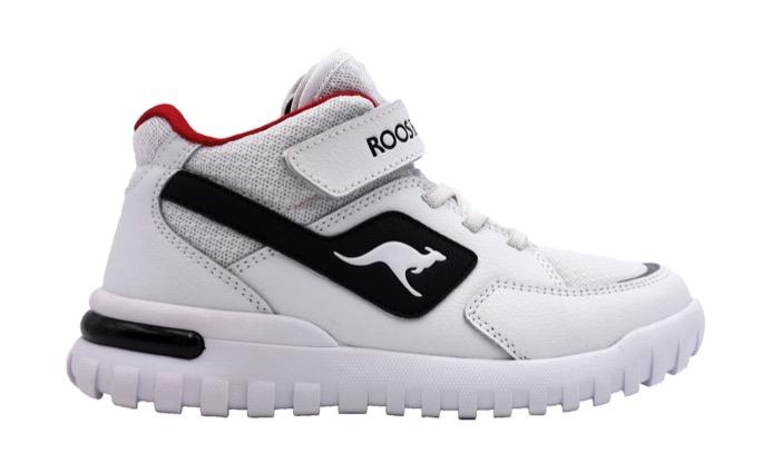 "Rooskickx-Modell ""Robba Mid"" in White, Jet Black"