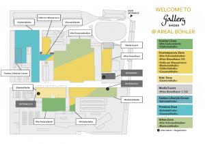 Geländeplan der Gallery Shoes im September 2018