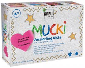 In der Produktbox von Mucki finden sich alle Utensilien, um mit Farben die Welt zu verschönern.