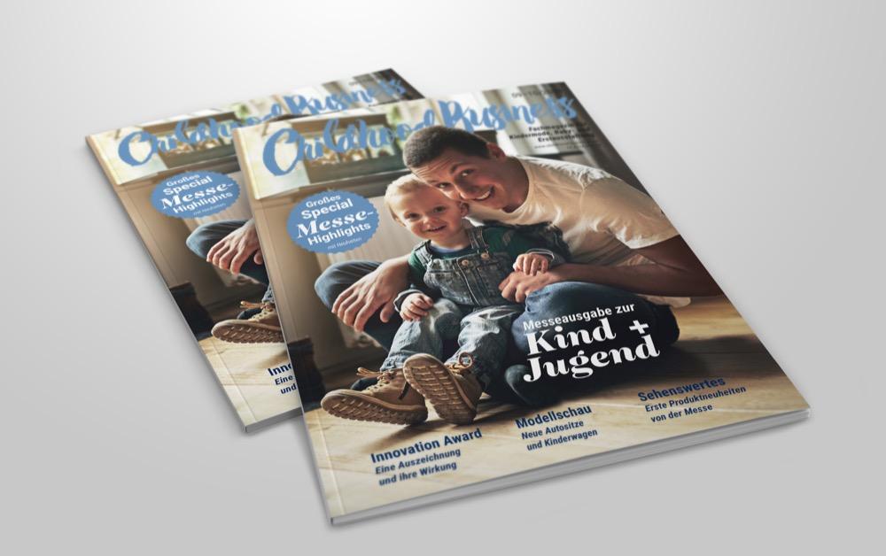 Cover der Messeausgabe zur Kind + Jugend 2018