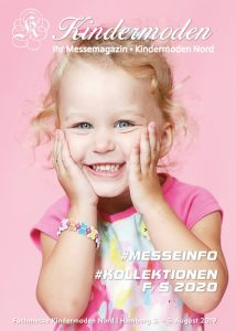 Cover des Katalogs zur Kindermoden Nord im August 2019