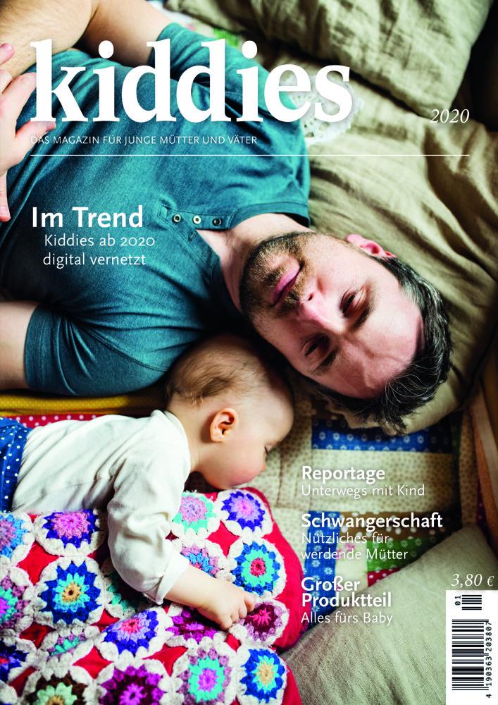 """Den Kinderschuhen entwachsen: Das Magazin """"Kiddies"""" erscheint Anfang 2020 im achten Jahr mit neuen Inhalten, mehr Beratung und Service sowie einer stärkeren Einbindung von Herstellern."""