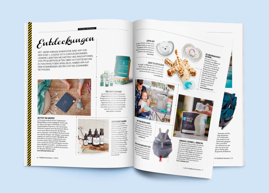Teil 1 der Entdeckungen aus Childhood Business, Ausgabe 11 / 2019.