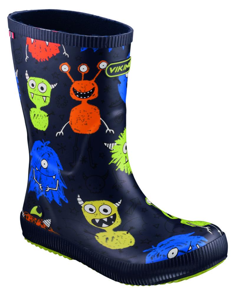 Mit seinen fröhlichen Charakteren auf den Schuhen macht das Modell von Viking aus einem Herbstausflug eine Monsterangelegenheit.