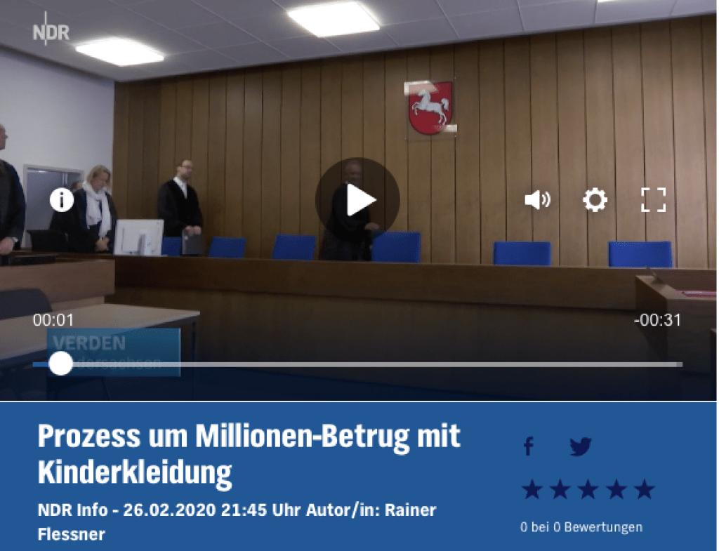 Bericht vom NDR zu Betrugsverdacht gegen Vera Beate K. aus Stuhr