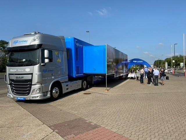 Truck der Dorel Roadshow –on the road statt auf der Messe