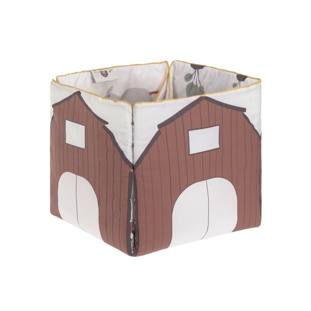 """Die Spieldecke """"Tiny Farmer"""" von Lässig lässt sich zu einer Aufbewahrungsbox umfunktionieren."""