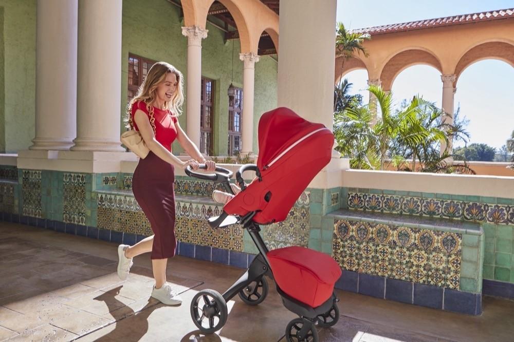 Stokke® Xplory® X Ruby Red Stroller In Setting