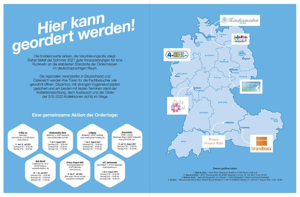Gemeinschaftsaktion deutschsprachiger Ordertage im Sommer 2021