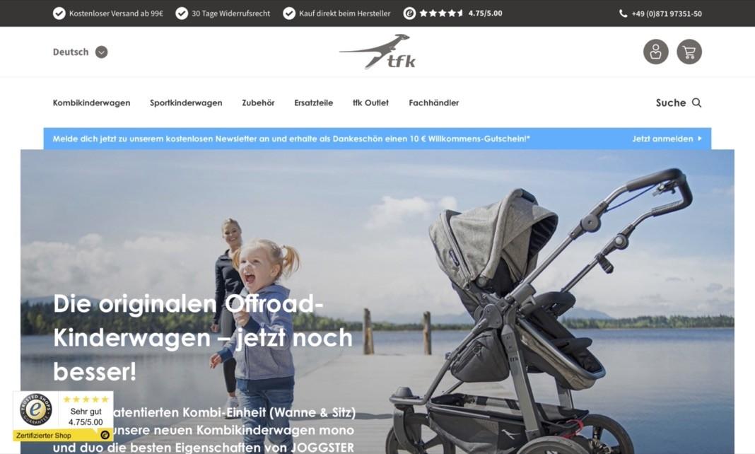 Screenshot der Marke Tfk